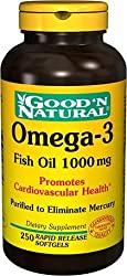 GNN Cholesterol Free Omega-3 Fish Oil 1000 mg 250 Softgels