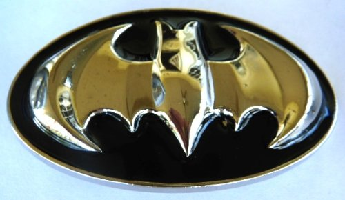 Batman Belt Buckle 3D Black Metal Oval Shiny Buckle (Brand New)