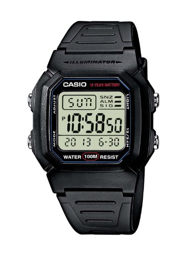Casio W-800H-1AVES  Mens Resin Digital Watch