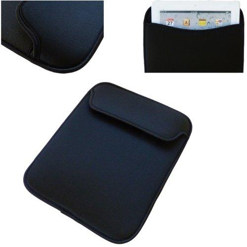Einstecktasche / Hülle, weich gepolstert, für Apple iPad 4 / iPad 3 / iPad 2 (alle Modelle), Schwarz