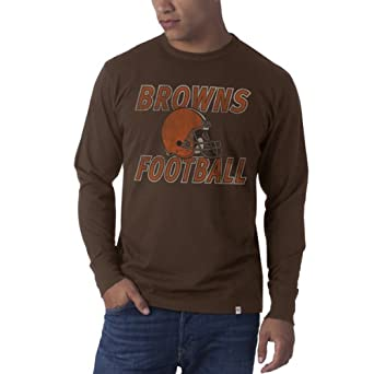 NFL Cleveland Browns Retro Logo Long Sleeve Flanker Tee by