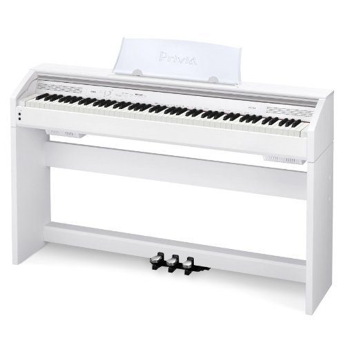 Casio Privia Px-750 88 Weighted-Key Digital Piano, White, Px750We, Cad Mh310