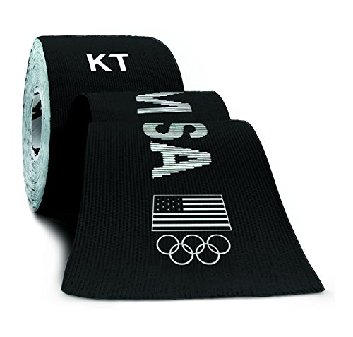 KT TAPE PRO Synthetic Elastic Kinesiology 20 Pre-Cut 10-Inch Strips, Therapeutic Tape, PRO USA Black (Pro Therapy Supplies compare prices)
