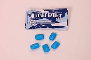 MILITARY ENERGY GUM (MEG) - Arctic Mint - 6 pack - (5pcs/pk) 100mg caffeine/pc - Used in Military Rations - Military Specification Formula