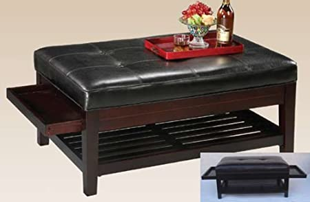 Coffee Table with Pull Out Trays in Espresso Finish By H.P.P