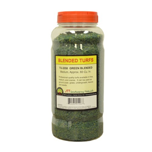 JTT Scenery Products Blended Turf, Green Blended, Medium - 1