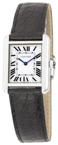 "buy Cartier Women'S W5200005 ""Tank Solo"" Stainless Steel Dress Watch With Leather Band"