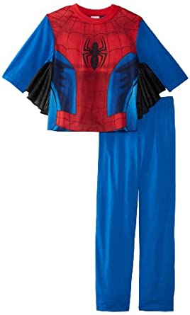 Spiderman Big Boys' Uniform 2 Piece Pajama Set, Assorted, 8