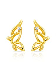 Mahi Gold Plated Cheerful Butterfly Stud Earrings With Crystal For Women ER1109281G