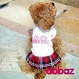 ドッグウェア!DOBAZ(ドバズ)チェックスカートのワンピース(前開)ピンク犬服(S〜L DM DL)