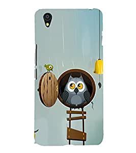 Cute Owl and a Bird 3D Hard Polycarbonate Designer Back Case Cover for OnePlus X :: One Plus X :: One+X