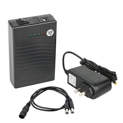 Talentcell 12V DC Output Lithium Ion Battery Pack For LED Strip/Light/Panel/Amplifier And CCTV Camera With Charger, Multi-led indicator Black (3000mAh) (12v Lithium Ion Battery Pack compare prices)