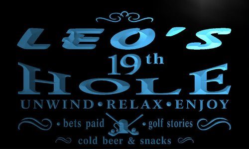 pi168-b Leo's 19th Golf Hole Bar Beer Neon Light Sign