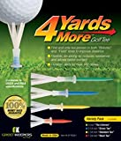 4 Yards More Golf Tee Variety Pack 4 Sizes Distance NEW