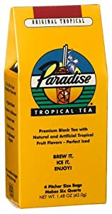 Paradise Ice Tea Tropical, 4 Pitcher Size Bags, 1.48-Ounce Boxes (Pack of 6)