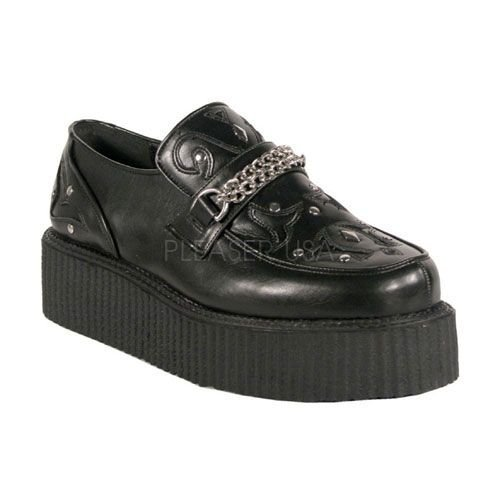 Demonia V-Creeper-509 - scarpe gotiche punk Industrial Creeper 36-48, US-Herren:EU-48 (US-M14)