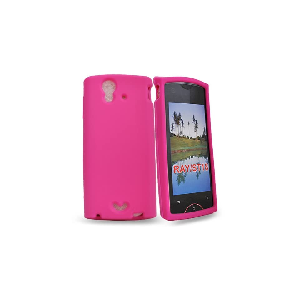 com Mobile Palace  Pink silicone case cover for sony ericsson xperia