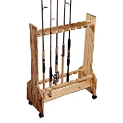 Rush Creek Log Cabin Style 16-Rod Rolling Rack