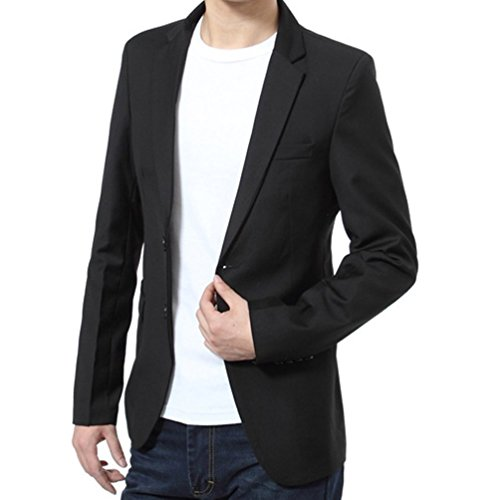 Mens-Slim-Fit-Casual-Two-Button-Sport-Coat