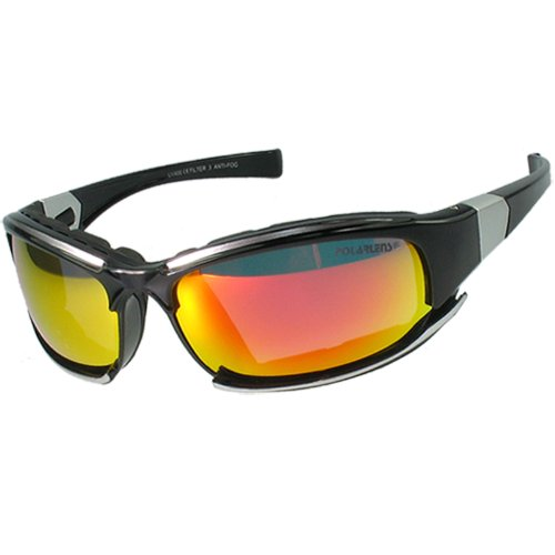 Polarlens P15 German Engineered Lightweight Polycarbonate Frame Sunglasses for Baseball, Boating, Skiing, Snowboarding and all other Summer and Winter Outdoor Sports and Activities