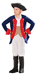 Patriot Soldier Boy Child Costume Red/Blue Large