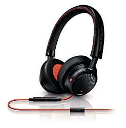 Philips M1MKIIBO/00 Fidelio On-ear Headband Headset (Black/Orange)