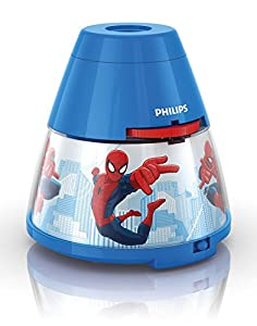 Philips Marvel Spider-Man Children's Night Light and Projector - 1 x 0.1 W Integrated LED from Philips Marvel