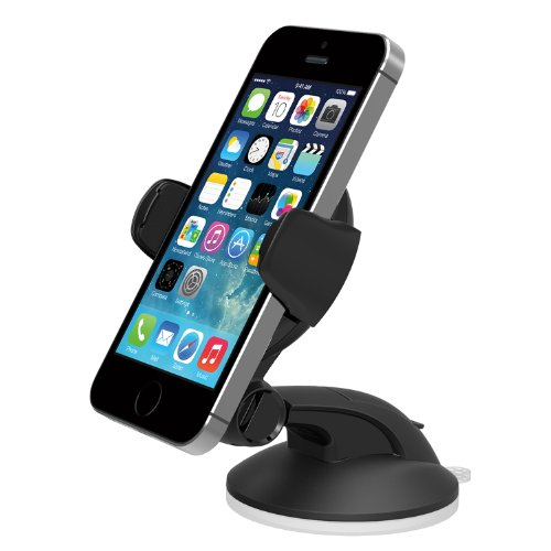 iOttie Easy Flex 3 Car Mount Holder Desk Stand for iPhone 5s 5c 5 4S 4 iPod Touch Samsung Galaxy S4 S3 S2 Nokia Lumia 920 HTC One DROID ULTRA MAXX Google Nexus LG Optimus G Motorola X Compact Size GPS