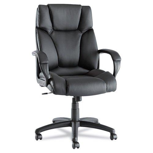 Alera Fraze High-Back Swivel/Tilt Chair, Black Leather 2 Pack
