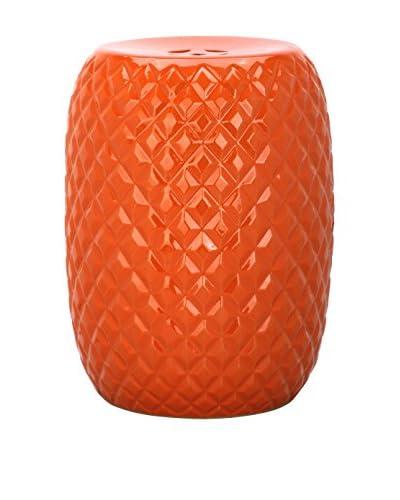 Safavieh Calla Garden Stool, Orange