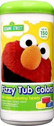 Sesame Street Fizzy Tub Color Tablets - 150 Baths - Value Pack!