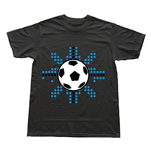 Hoxsin Black Men'S Soccer Ball Cool Casual T Shirts Us Size Xs