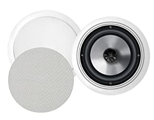 BIC America FH8-C 8-Inch 175-Watt In-Ceiling Speakers with Swivel Mid/High Frequency Horns