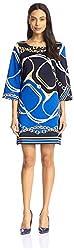 JB by Julie Brown Women's Merrie Dress, Cobalt Positano, M