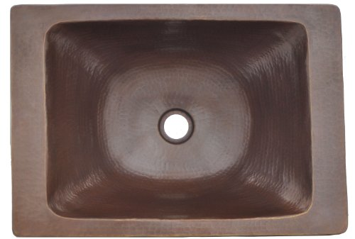 Hand Hammered Copper Rectangular Vessel Sink Celestina Design