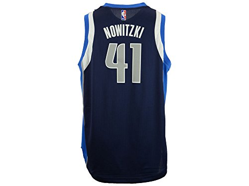 Youth Dallas Mavericks Dirk Nowitzki Adidas Navy Blue 2014-15 New Swingman Alternate Jersey