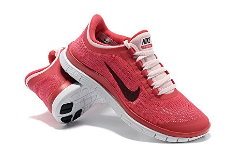 Nike Womens Free 3.0 V5 12 M US Fusion Red/Black/Arctic Pink