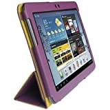 Samsung Galaxy Tab2 10.1 Tablet (GT-P5113) Custom Fit Portfolio Leather Case Cover with Built In Stand- Purple