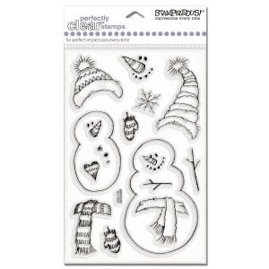 6 Pack CLEAR STAMP STRETCHY SNOWMAN Papercraft, Scrapbooking (Source Book)