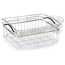 3 Piece Compact Dish Rack System, Stainless Steel