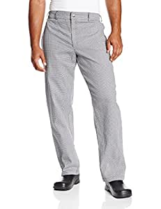 Chef Revival P034HT Yarn Dyed Poly Cotton Hounds Tooth Pattern Chef Trouser with 2 Side and 2 Rear Pockets, 3X-Large