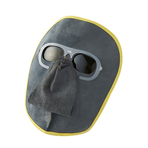 Joyutoy-Welding-Mask-Cowhide-Leather-Comfortable-Welding-Hood-Helmet-With-Clear-GogglesGrey-GogglesBlack-Goggles