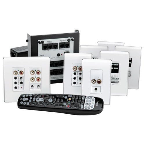 On-Q/Legrand lyriQ Audio Kit (Studio), Multi Source, 4 Zones, White (AU5544-WH)