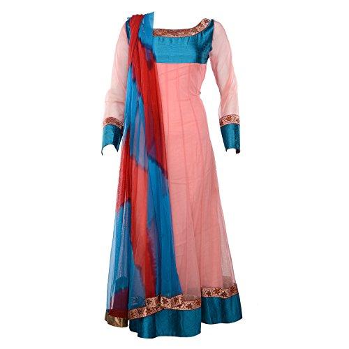 Tishya's Designer Anarkali Suit in peach pink