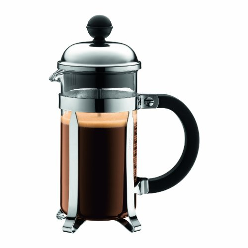 Bodum 1923-16USW Chambord 3-Cup French Press Coffee Maker, 12-Ounce, Chrome (Silver)