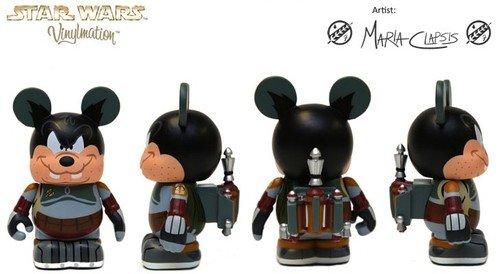 "Disney Park Exclusive Star Wars Weekends 2012 Bad Pete as Boba Fett 3"" Vinylmation Figure - 1"