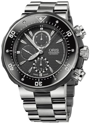 Oris Men's 674 7630 7154MB Prodiver Chronograph Set Watch