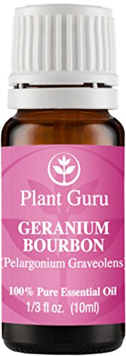 Geranium Bourbon Essential Oil 10 ml. 100% Pure, Undiluted, Therapeutic Grade.