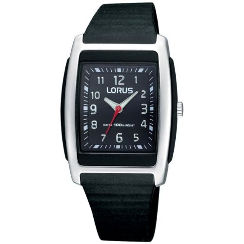 Lorus Ladies Analogue 100M Water Resistant Black Sports Strap Watch RRX83CX9