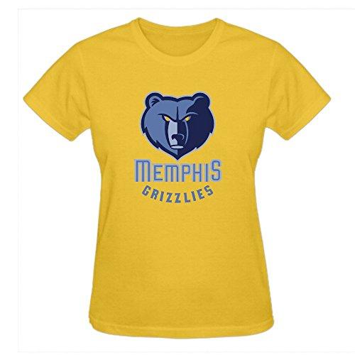 charles-cheek-nba-memphis-grizzlies-womens-cartoon-round-neck-t-shirts-yellow